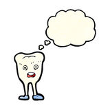 cartoon happy tooth with thought bubble Stock Images