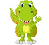 Cartoon happy tyrannosaurus illustration Stock Photography