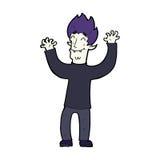Cartoon happy vampire man Royalty Free Stock Image