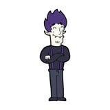 Cartoon happy vampire man Stock Photos