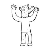 Cartoon happy werewolf man Royalty Free Stock Images