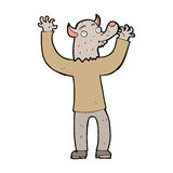 Cartoon happy werewolf man Stock Photo