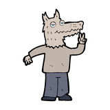 Cartoon happy wolf man Stock Images