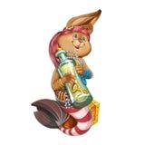 Cartoon hare the mermaid. Royalty Free Stock Photography