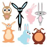 Cartoon hares vector stock illustration