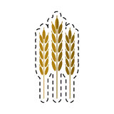 Cartoon harvesting wheat ears. Vector illustration eps 10 Royalty Free Stock Image