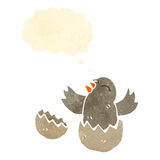 Cartoon hatching bird Stock Photo