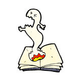 Cartoon haunted spell book Royalty Free Stock Images