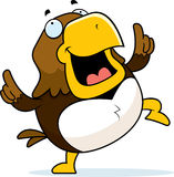 Cartoon Hawk Dancing Stock Photo
