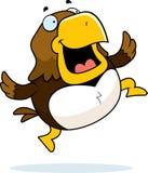 Cartoon Hawk Jumping Stock Image