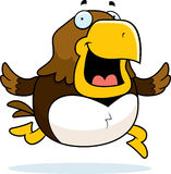 Cartoon Hawk Running Stock Image