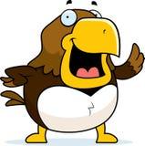 Cartoon Hawk Waving Stock Images