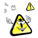 Cartoon hazard warning attention sign Royalty Free Stock Images
