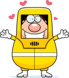 Cartoon Hazmat Hug Royalty Free Stock Images
