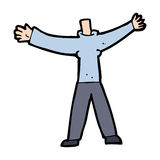 Cartoon headless body (mix and match cartoons or add own photo) Royalty Free Stock Photos