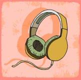 Cartoon headphones illustration , vector icon. Royalty Free Stock Image