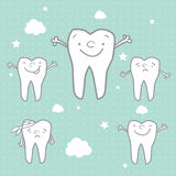 Cartoon healthy tooth Stock Photo