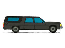 Cartoon hearse car Royalty Free Stock Photo