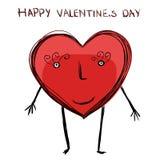 Cartoon heart card Royalty Free Stock Photos