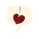 cartoon heart cherry with speech bubble Stock Photos