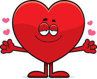 Cartoon Heart Hug Stock Images