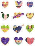 Cartoon Heart icon. Drawing Stock Images