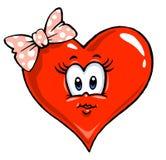 Cartoon Heart Illustration - Girl. Cartoon heart illustration for lovers - Coloring Stock Photography