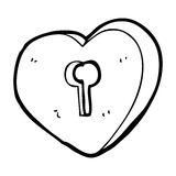 Cartoon heart with keyhole Royalty Free Stock Photography