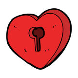 Cartoon heart with keyhole Stock Images