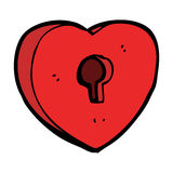 Cartoon heart with keyhole Stock Image