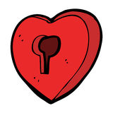 Cartoon heart with keyhole Royalty Free Stock Image