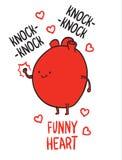 Cartoon heart Stock Images