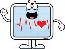 Cartoon Heart Monitor Happy Royalty Free Stock Photos