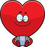 Cartoon Heart Playing Cards Stock Photo