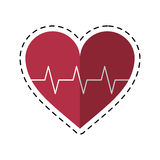 Cartoon heart pulse rhythm cardio Royalty Free Stock Photography