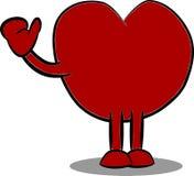 Cartoon heart shape waving. Illustration of a cartoon heart shape waving hand Royalty Free Stock Photo