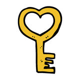 cartoon heart shaped key Royalty Free Stock Images
