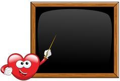 Cartoon heart teacher blackboard Royalty Free Stock Images