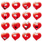 Cartoon hearts Stock Photo