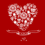 Cartoon hearts background Stock Photography