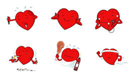 Cartoon hearts Stock Photography