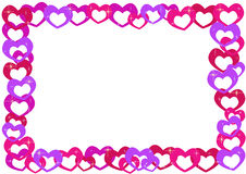 Cartoon hearts frame Royalty Free Stock Photo