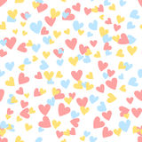 Cartoon hearts seamless pattern. Saint Valentine day symbol background. Vector illustration for any design Royalty Free Stock Photos