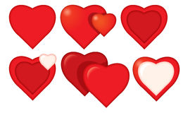 Cartoon hearts set Stock Image