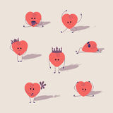 Cartoon hearts set Royalty Free Stock Image