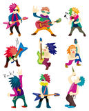 Cartoon Heavy Metal rock music band Stock Image