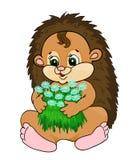 Cartoon hedgehog Stock Photo