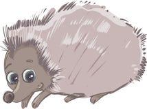 Cartoon hedgehog animal character Stock Photography