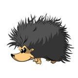 Cartoon Hedgehog Illustration royalty free illustration