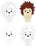 Cartoon hedgehog pleads. Dot to dot game for kids Stock Images